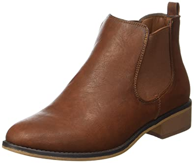 Sfbeathe Leather Boot, Bottes Chelsea Femme, Marron (Cognac), 40 EUSelected