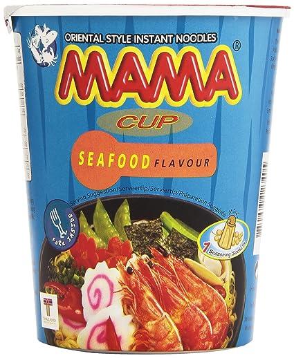 Mama Seafood Flavour Fideos Orientales Sabor a Marisco - 70 g