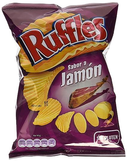 Ruffles -Patatas Fritas con Sabor a Jamón, 45 gr.