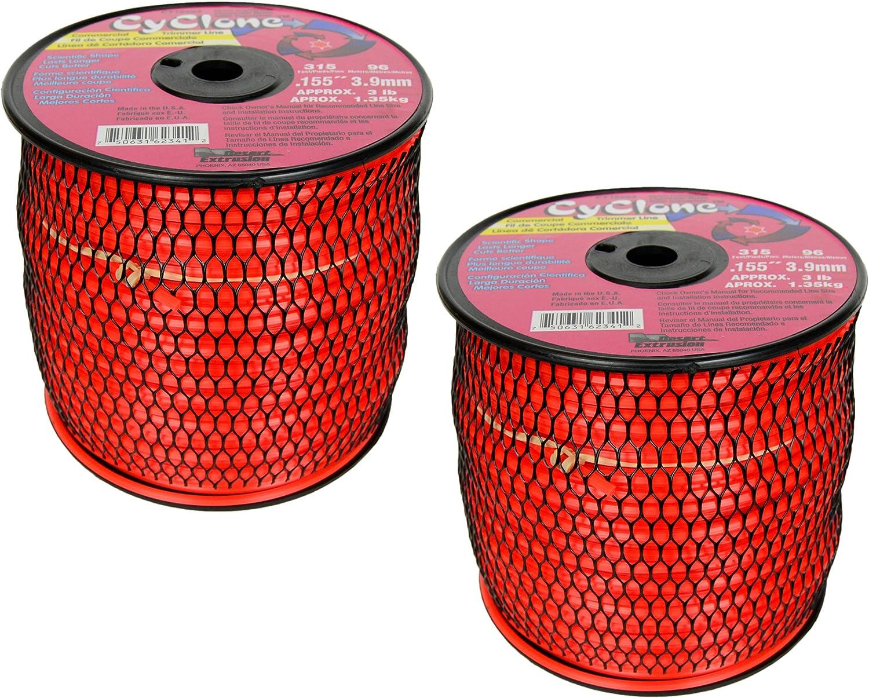 Amazon.com: Cyclone CY155S3, cuerda para desbrozadora roja ...