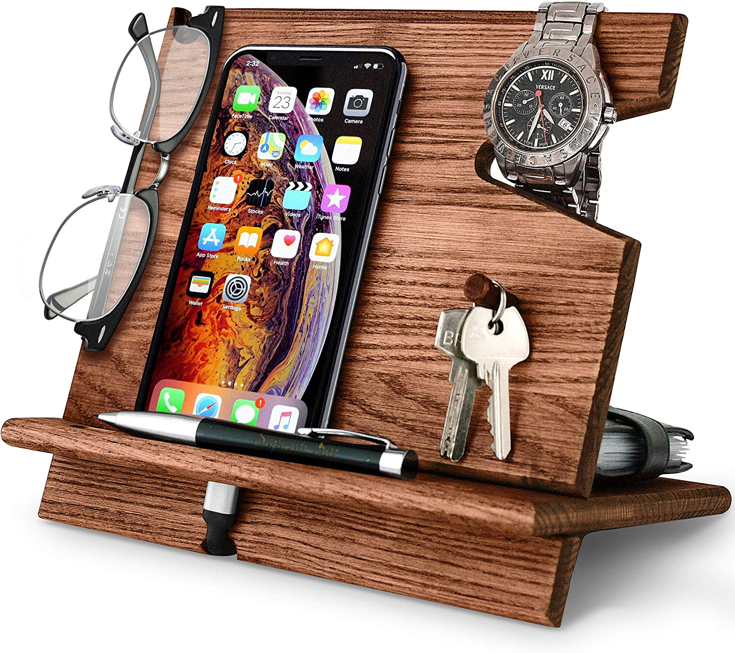 gift phone stand Electronic Stand phone stand wooden phone stand Docking Station Charging Station Wooden Mobile Phone Stand