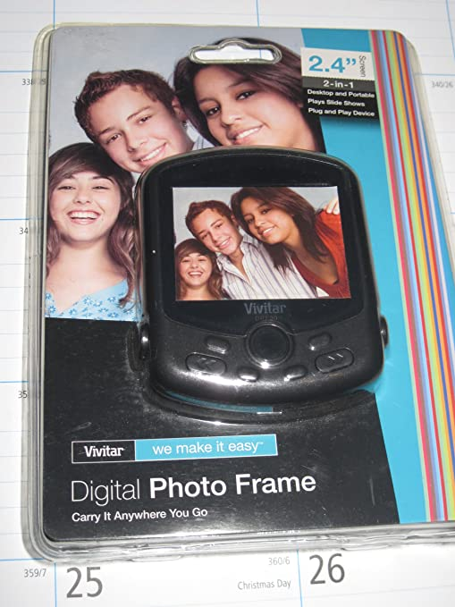 Amazoncom Vivitar Digital Photo Frame 24 Screen Digital