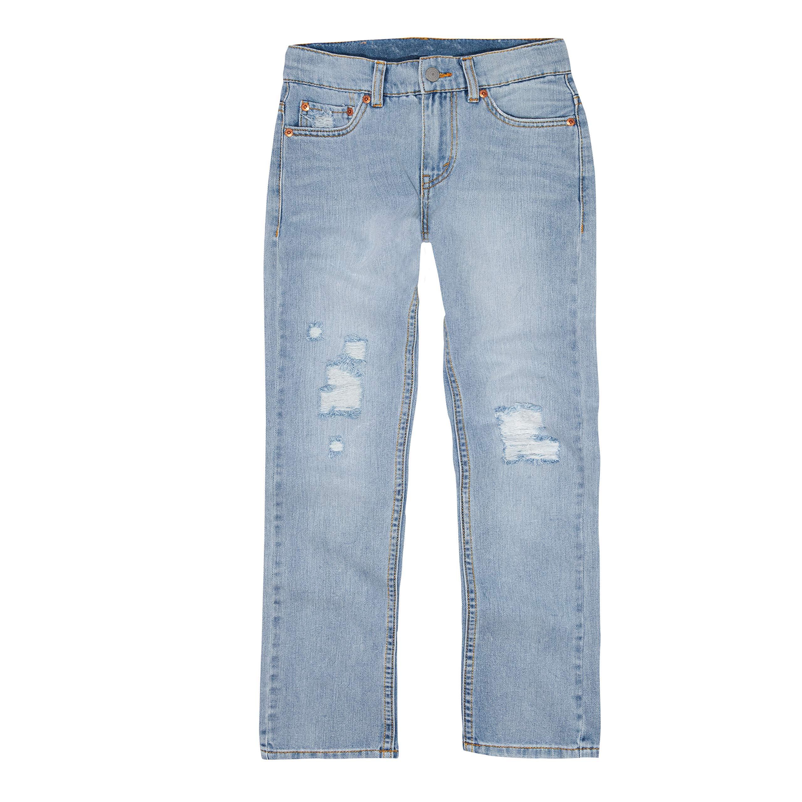 Levi's Boys' Big 511 Slim Fit Performance Jeans, Abbot Kinney Destructed, 10