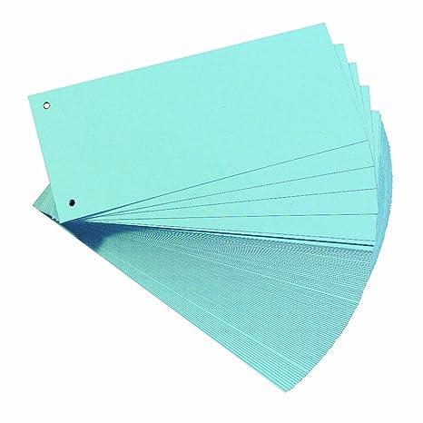 Exacompta Forever pack de 100 Fiches intercalaire trap/èze 180 g//m/² 10,5 x 24 cm uni perfor/é Orange