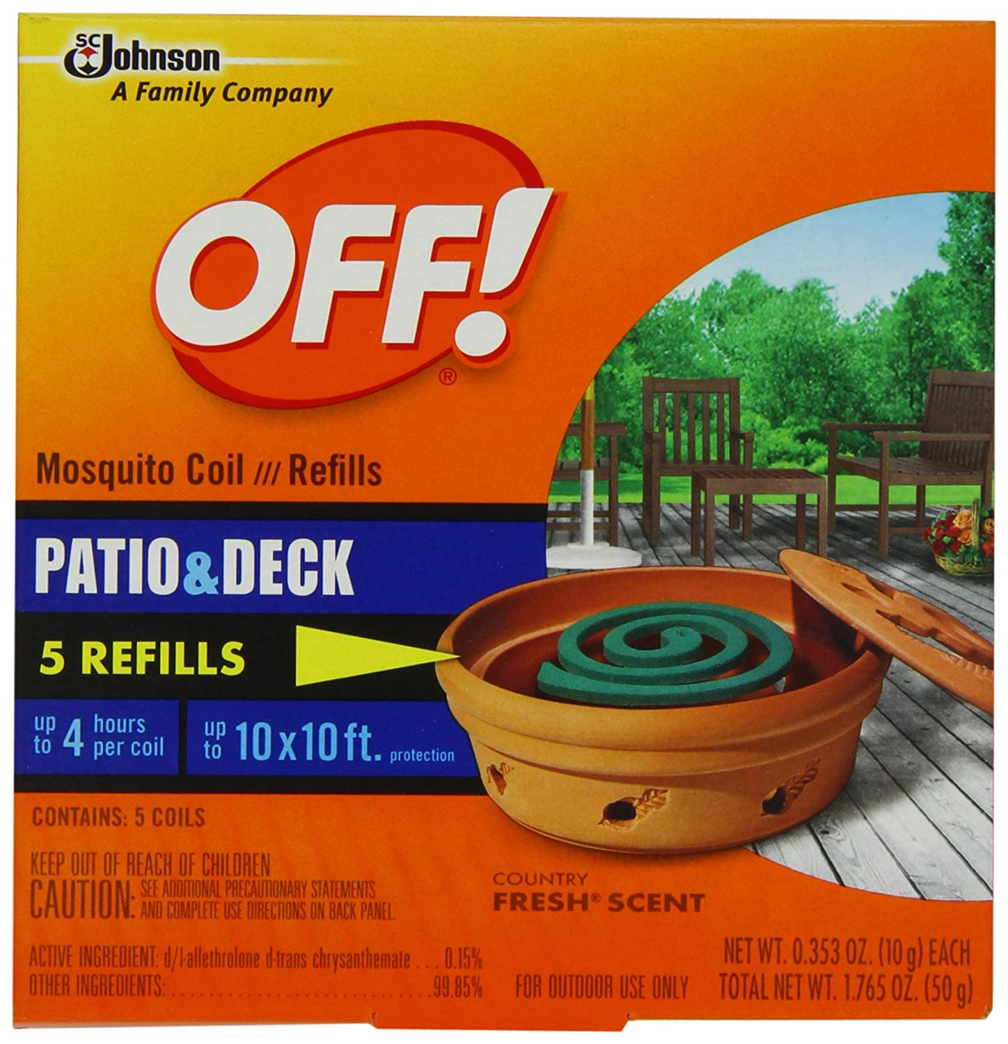 Amazon.com: Off! Off! Mosquito Coil Refill, 5 Count(total Net Wt. 1.765oz):  Health U0026 Personal Care