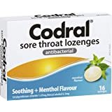 CODRAL CODRAL Sore Throat Lozenges Menthol 16, 0.05 kilograms