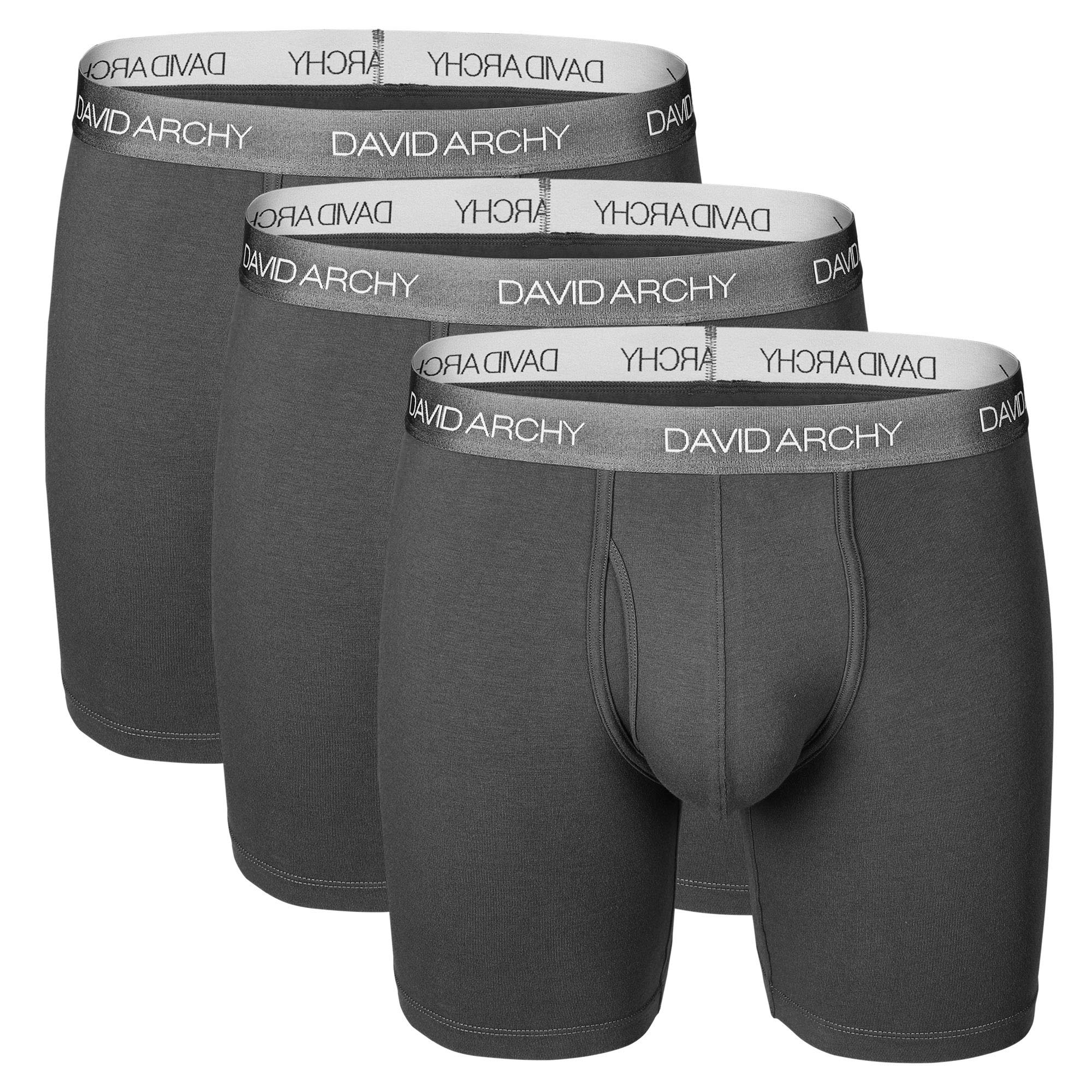 Rrive Mens Breathable 6-Pack Micro Modal Basic Pouch Underwear Boxer Briefs