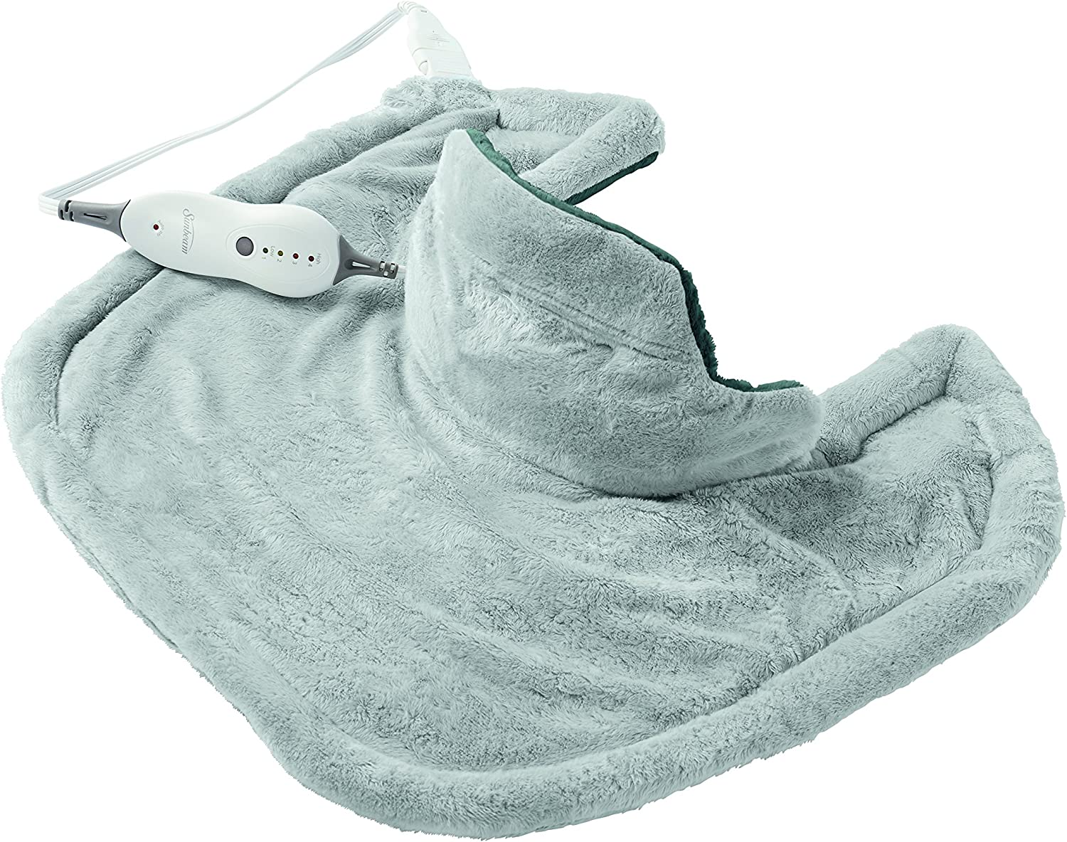 Sunbeam Heating Pad for Neck & Shoulder Pain Relief | Standard Size Renue, 4 Heat Settings with Auto Shutoff | Light Blue, 22 Inch x 19 Inch