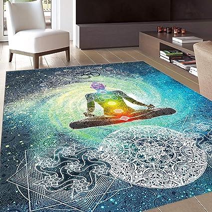 Amazon.com: Rug, Floor Mat Rug, Yoga, Area Rug, Mandala ...