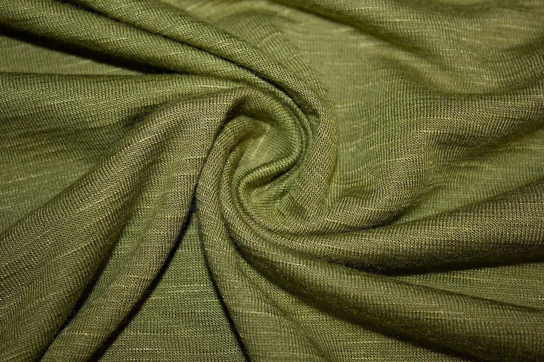4a89c70d58f Jersey Knit Solid Slub 2-Way Stretch 97% Rayon 3% Spandex Lycra Soft Fabric  By The Yard (Light Olive)