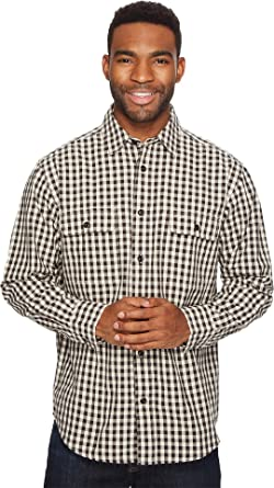 Filson Men's Lightweight Kitsap Work Shirt Black/Tan Check Shirt