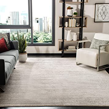 Safavieh Adirondack Collection Adr113b Modern Ombre Non Shedding Stain Resistant Living Room Bedroom Area Rug 10 X 14 Ivory Silver Furniture Decor