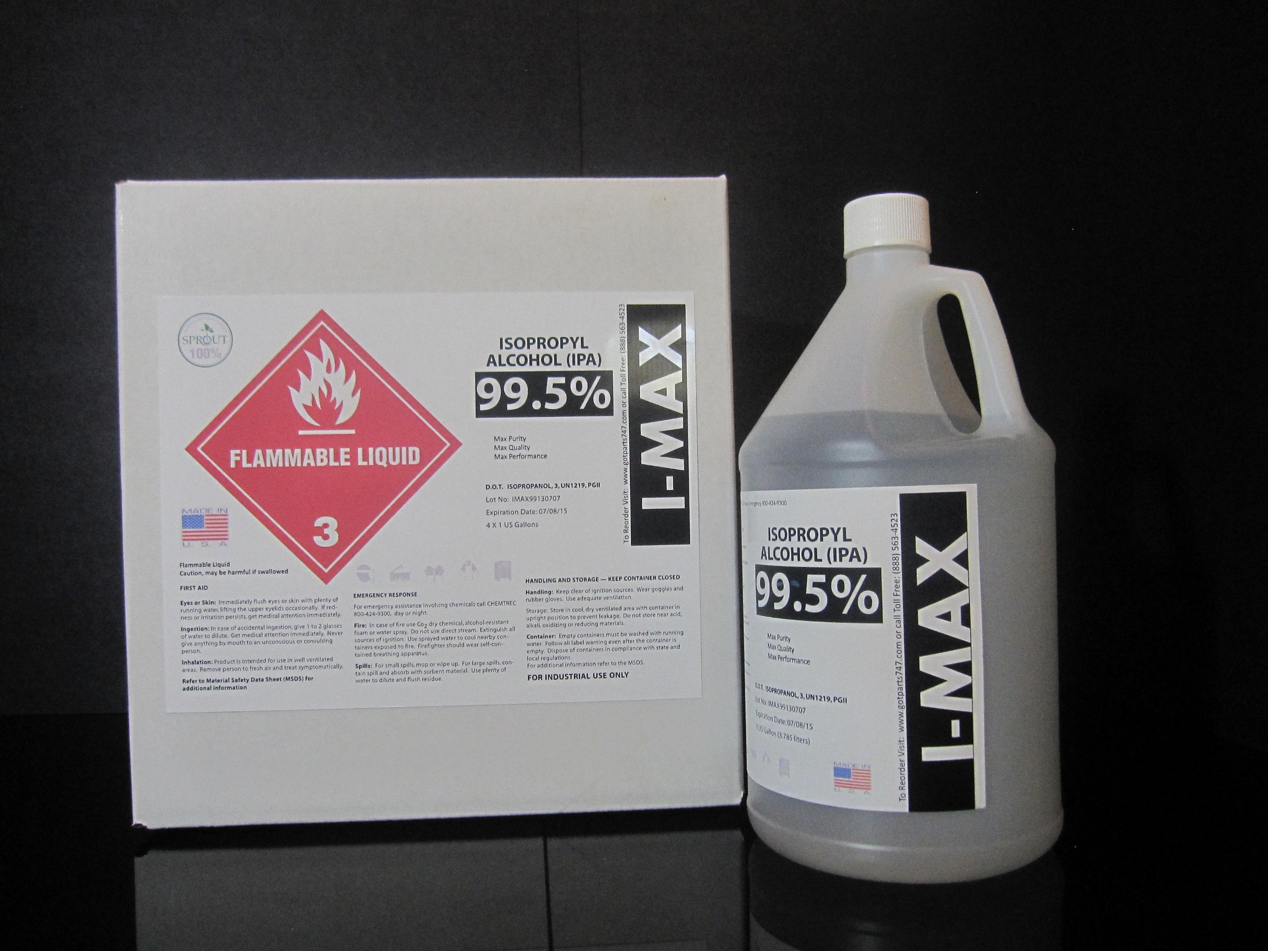 General Cleaning Alcohol - IPA 99.5% 4 GALLONS - HIGH PURITY (Best quality and price online)