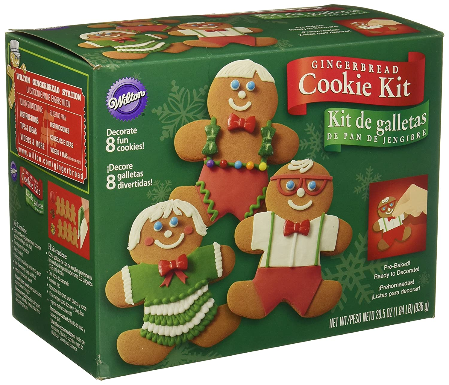 amazoncom wilton gingerbread boy cookie decorating kit kitchen dining