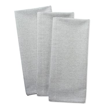DII Cotton Chambray Dish Towel, 20x30  Set of 3, Monogrammable Oversized Kitchen Towels for Cooking and Baking-Artichoke Green
