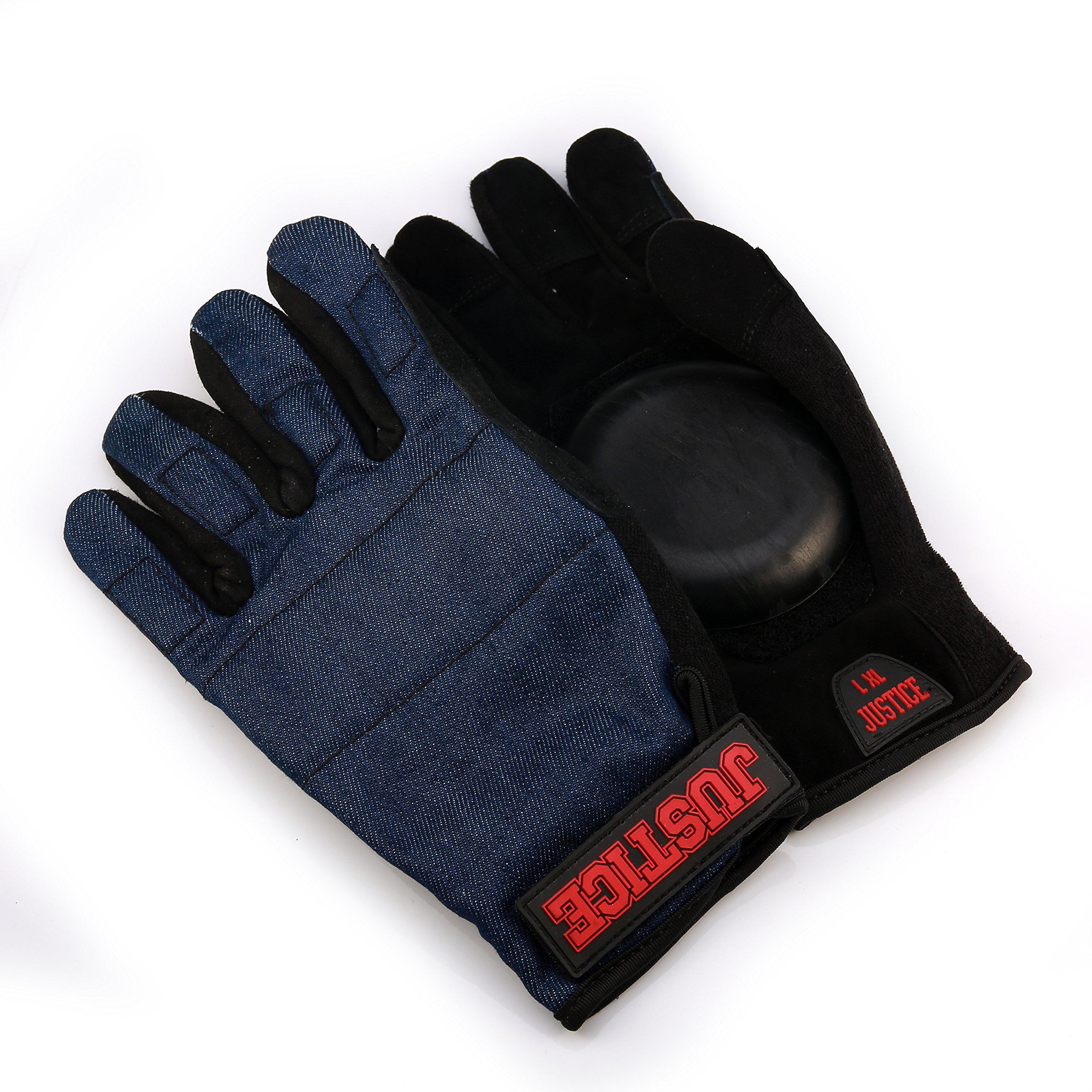 Andux Land Leather Gloves Skateboard HBST-06 (Blue, S/M)