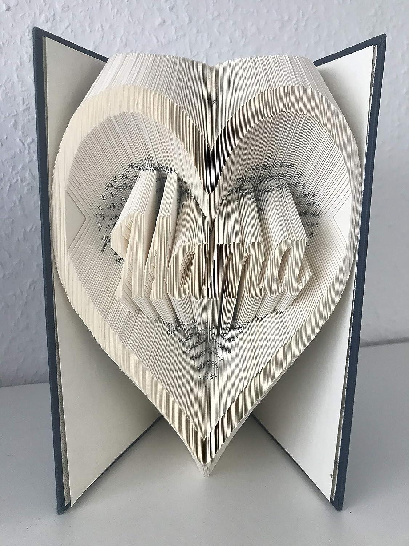 Herz mit Mama Gefaltetes Buch