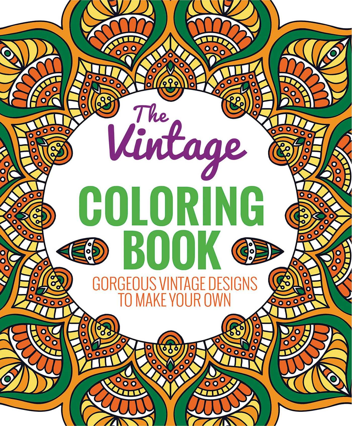 Amazon The Vintage Coloring Book 9781626864726 Editors Of Thunder Bay Press Books