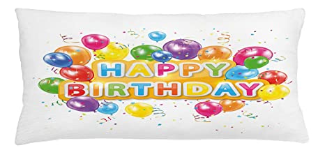 amazon com ambesonne birthday throw pillow cushion cover the words