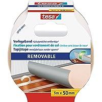 Tesa 55729-00017-00 Flooring Tape Residue-free Removal, 5m x 50mm, transparant