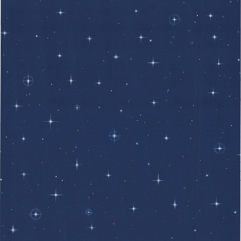 Brewster 443 Jj6834 Starfleet Navy Blue Stars Wallpaper Navy Blue