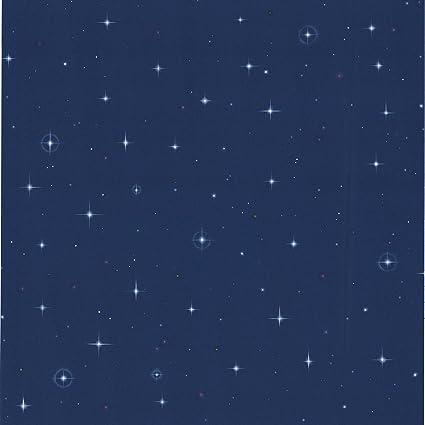 Brewster 443 Jj6834 Starfleet Navy Blue Stars Wallpaper