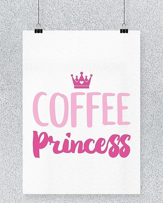 Compra Hippowarehouse Coffee Princess Cartel Impreso Pared ...