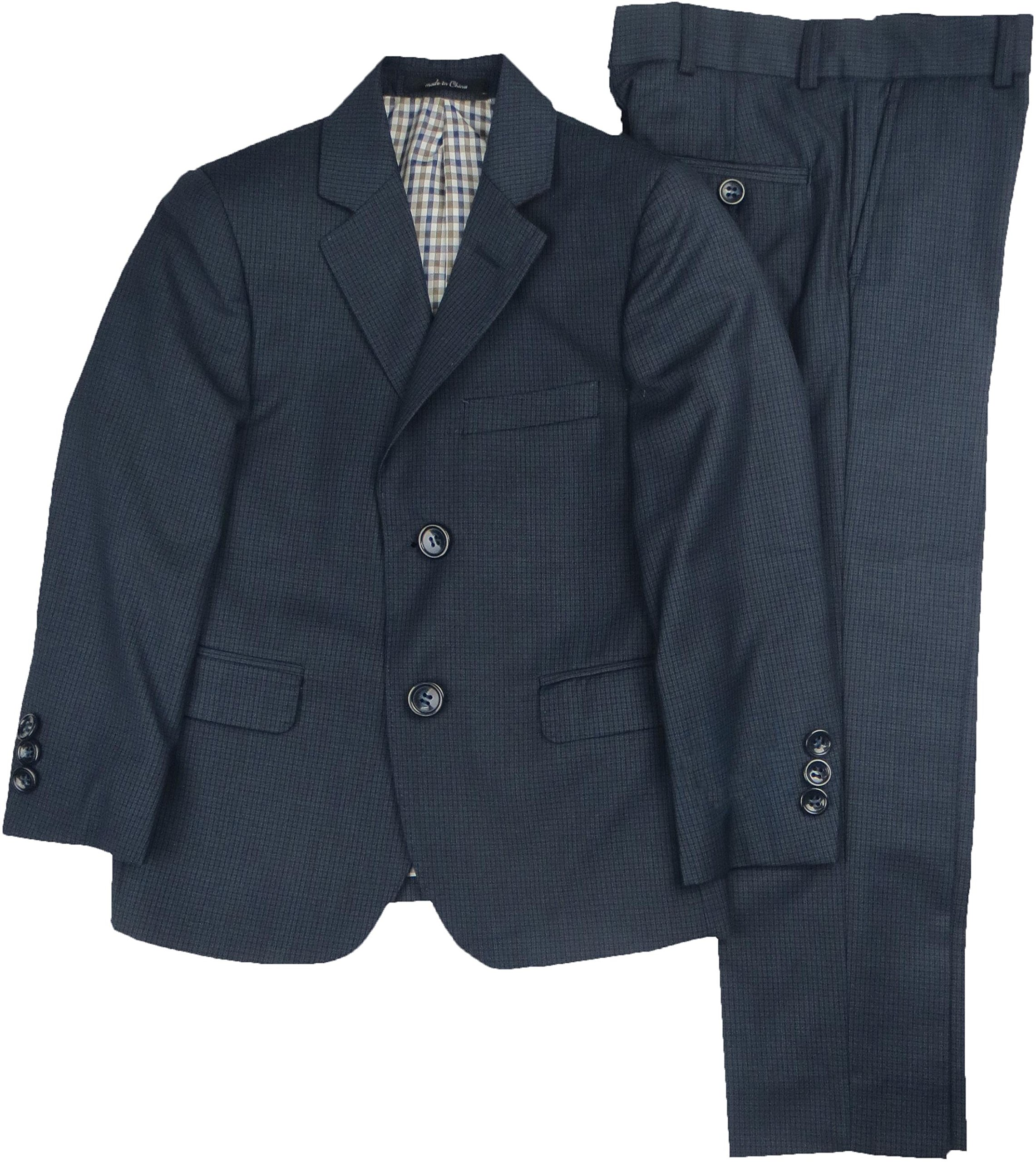 T.O. Collection Boys Suit (Slim, Regular & Husky Fit) - 1632-11 - Navy, 8 Husky by T.O. Collection