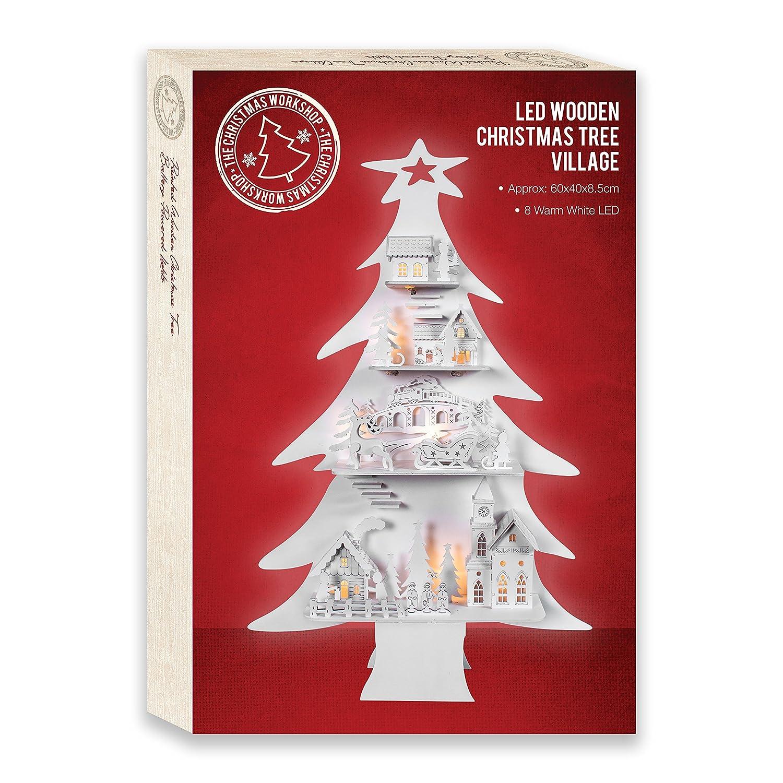 The Christmas Workshop Alberello di natale in legno Decorazioni Natalizie Image 2