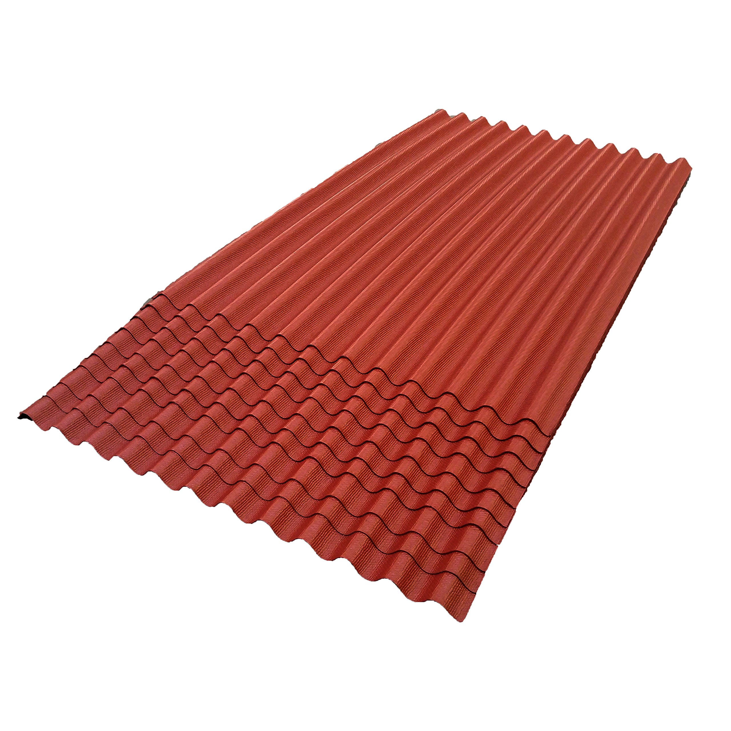 ONDURA 103 Corrugated Asphalt Roofing (10 Pack), Red by ONDURA