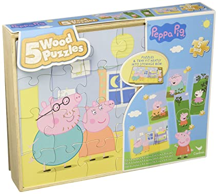 Peppa Pig 5 Wood Puzzles In Wooden Storage Box (styles will vary)  sc 1 st  Amazon.com & Amazon.com: Peppa Pig 5 Wood Puzzles In Wooden Storage Box (styles ...
