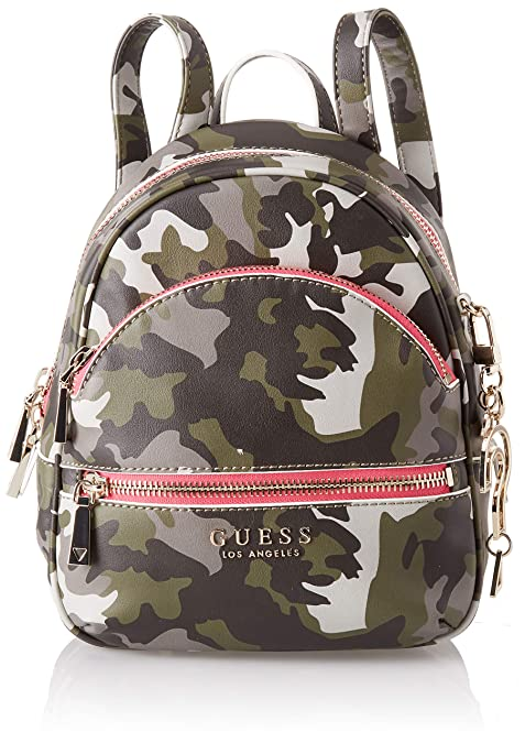 Guess - Manhattan, Mochilas Mujer, Multicolor (Camouflage/Cmo), 21x27.