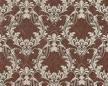 AuBergewohnlich 3D Floral XXL Tapete Blumen Vliestapete EDEM 697 95 Damask Muster Ornament  Reh Braun