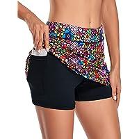 Kimmery Women's Athletic Tennis Skorts Golf Skirts with Shorts Pocket