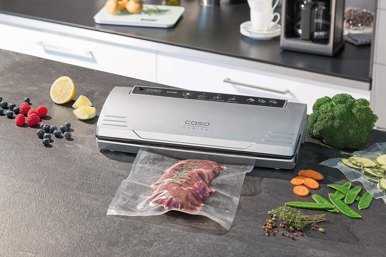Caso Design 11380-2-KIT VC 100 Food Vacuum Sealer, 1, Stainless
