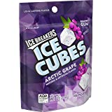 ICE BREAKERS ICE CUBES Chewing Gum, ARCTIC GRAPE Flavor, Sugar Free, 8.11 Ounce, 100 Count Resealable Pouch