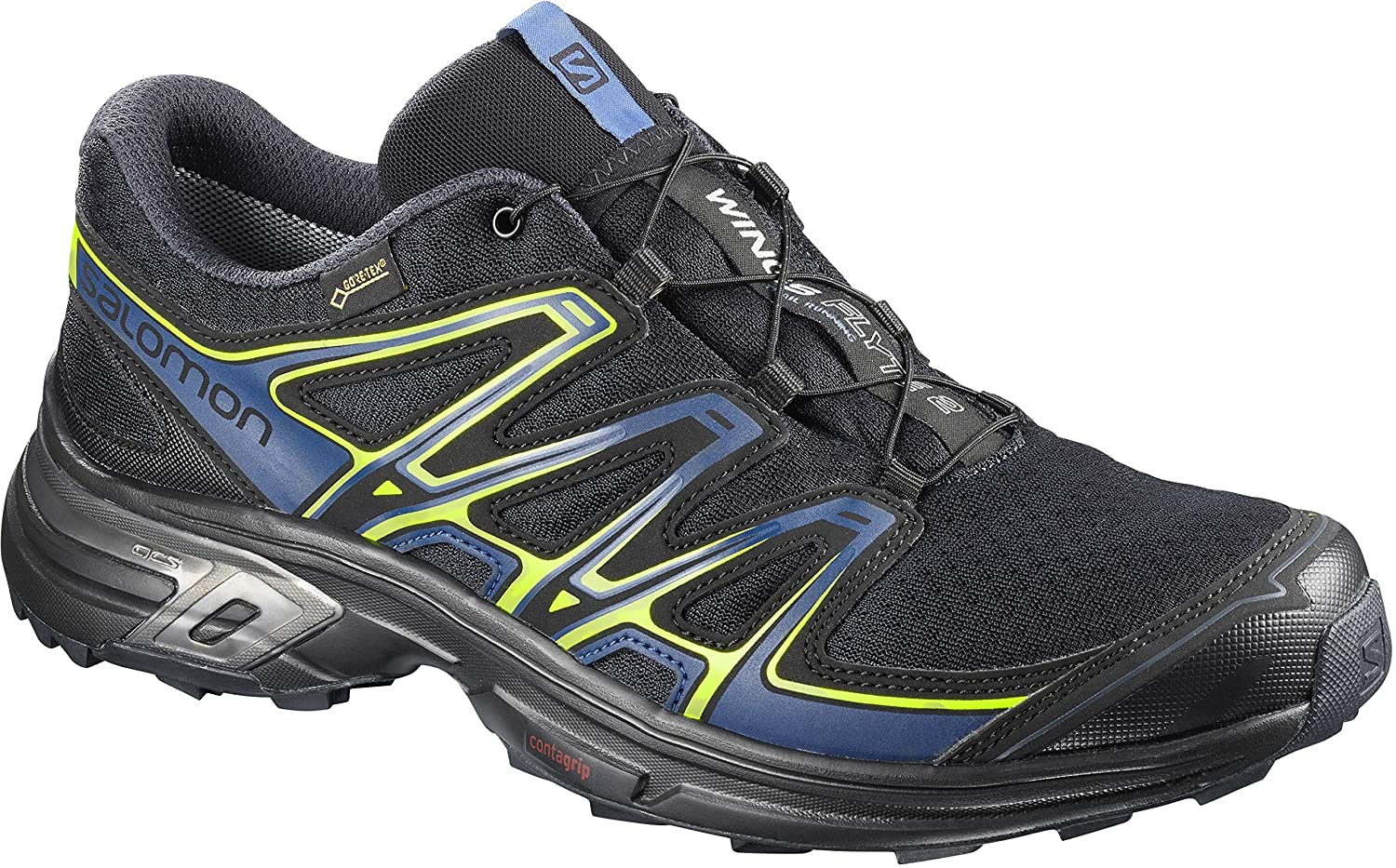 Salomon Wings Flyte 2 GTX, Calzado de Trail Running para Hombre 40 2/3 EU|Azul (Night Sky/Snorkel Blue/Graphite)