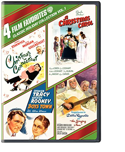 4 Film Favorites: Classic Holiday   Volume 1 (Boys Town / A Christmas Carol / Christmas In Connecticut / The Singing Nun) by Amazon