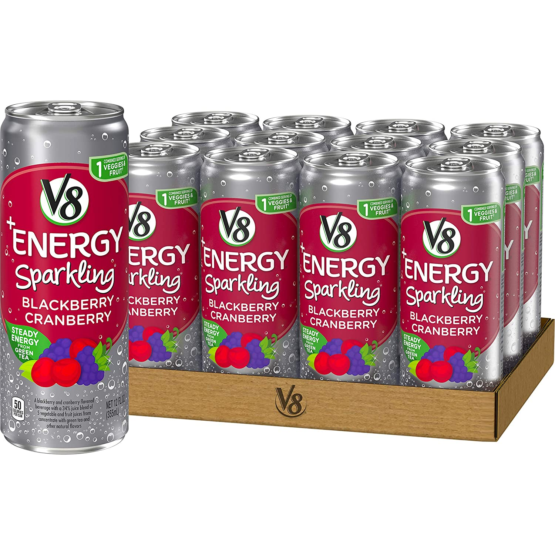 V8 Energy Review >> Amazon Com V8 Energy Sparkling Healthy Energy Drink Natural