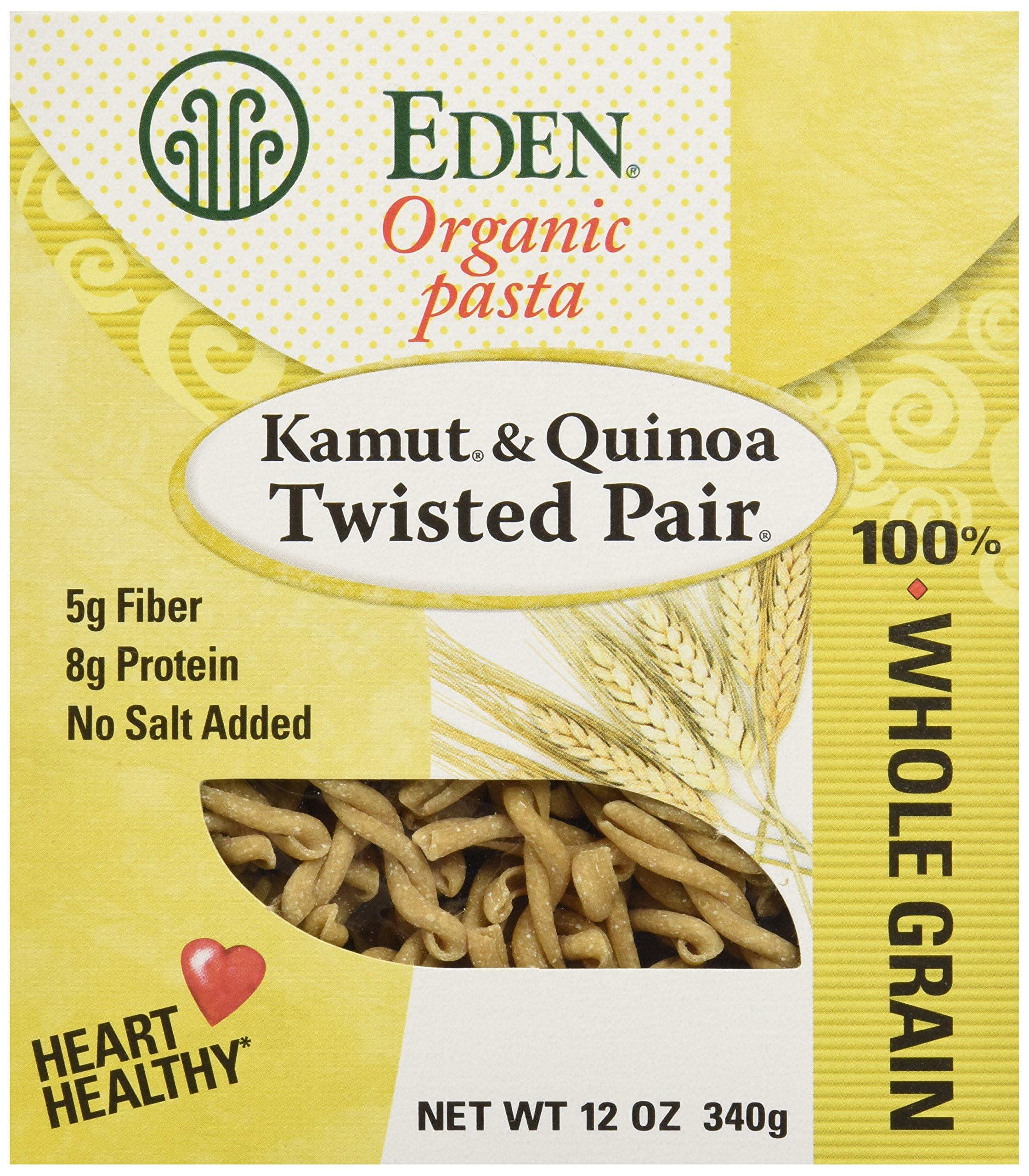 Eden Foods Orgainc Kamut and Quinoa Twisted Pair Pasta, 12 oz