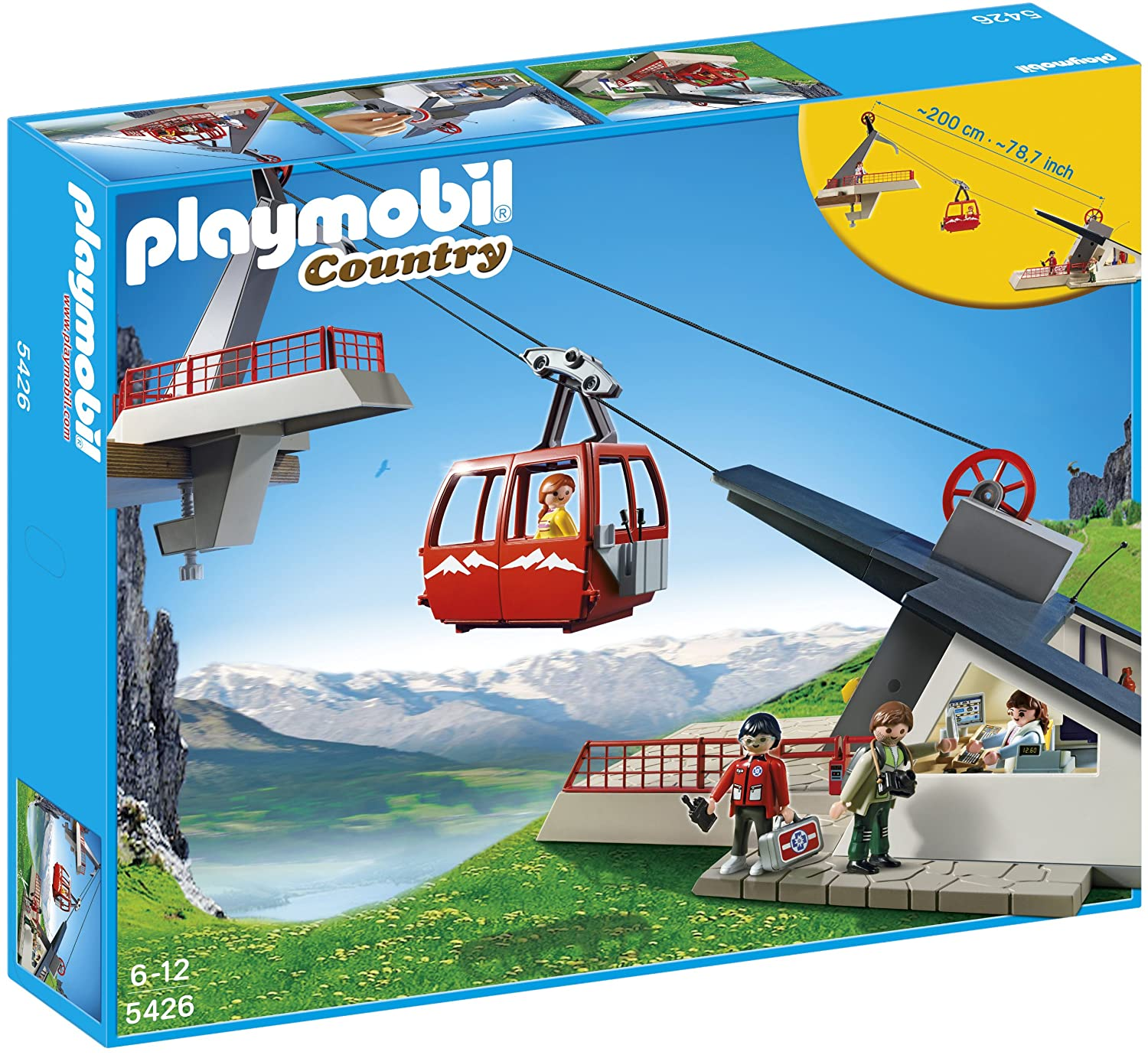 amazoncom playmobil 5426 alpine cable car playset toys games