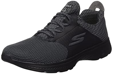 Skechers Mens Gowalk 4 Instinct Sneaker BlackGray Size 11