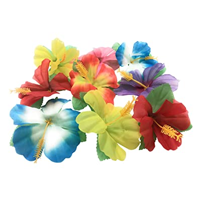 Oojami Hibiscus Flowers for Tabletop Decoration: Toys & Games