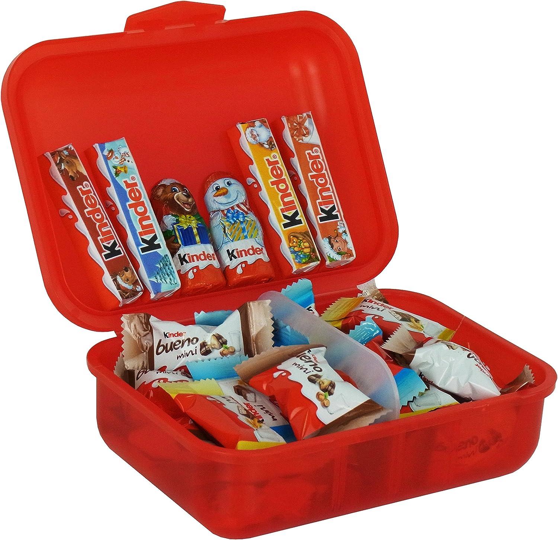 Caja de Almuerzo Regalo de Navidad con Ferrero Kinder Navidad Especialidades, 267g: Amazon.es: Alimentación y bebidas
