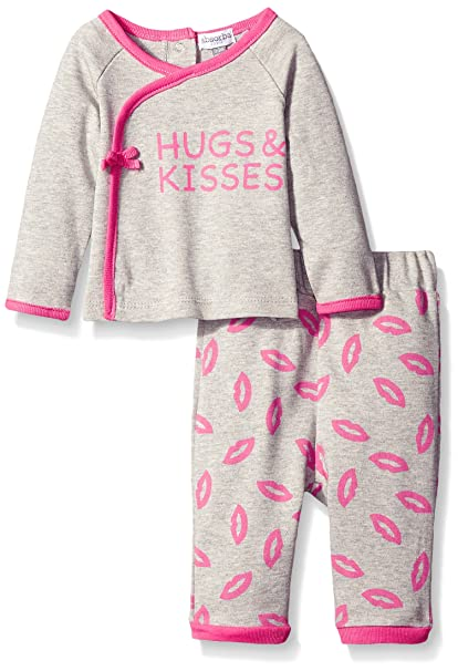 3a2815db8f34 Amazon.com  absorba Baby Girls  Kisses and Hugs Pant Set  Clothing