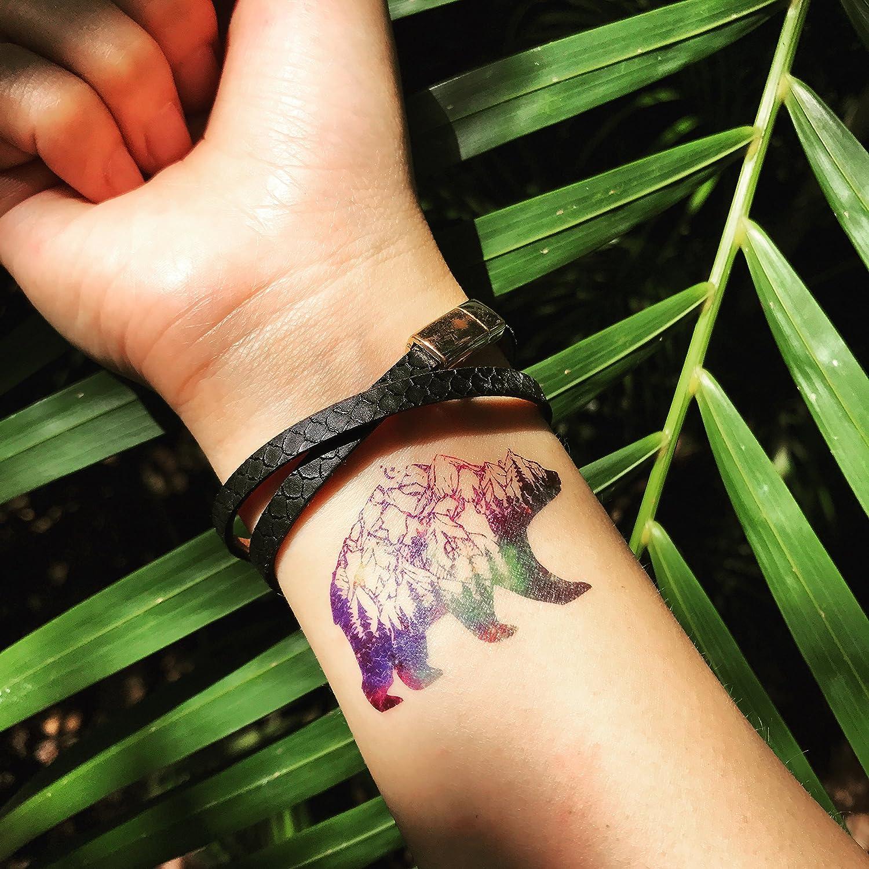 Tatuaje Temporal de Galaxy Polar Bear (2 Piezas) - www.ohmytat.com ...