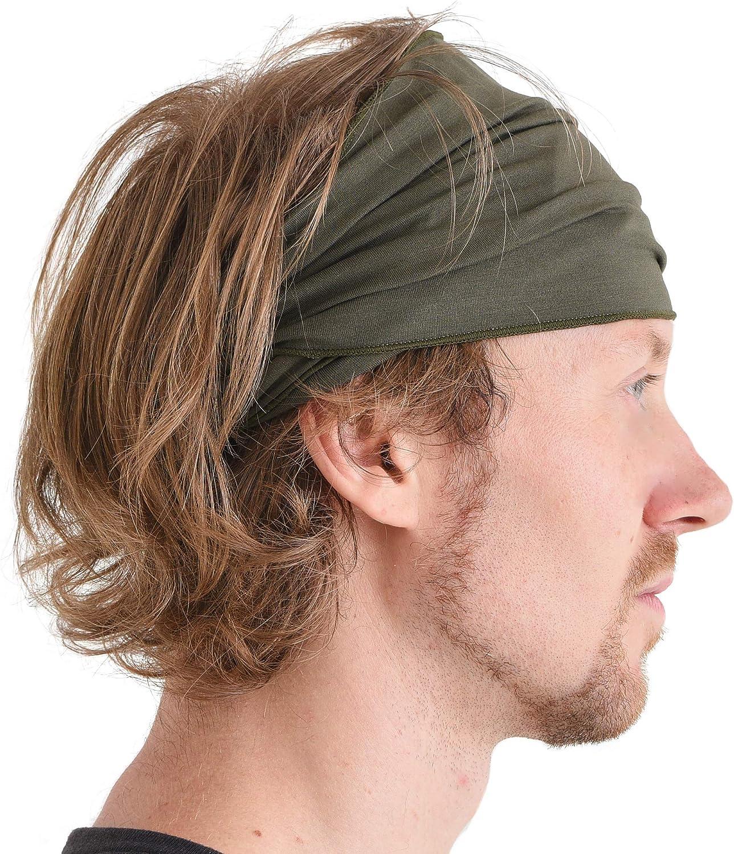 CHARM Mens Womens Elastic Bandana Headband Japanese Long Hair Dreads Head Wrap