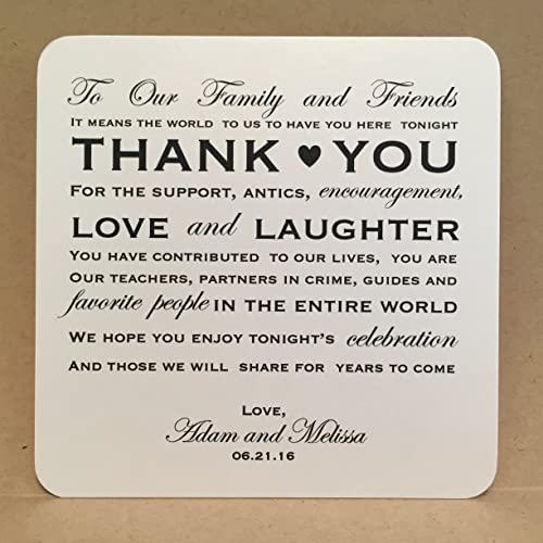 Amazon Thank You Wedding Cards Reception Placecards Place Cards