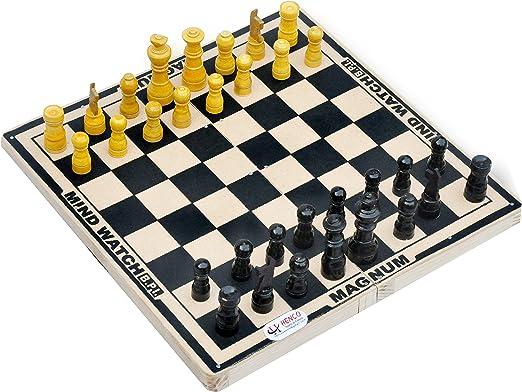 Henco Chess Board Set,Jockey 35 cm x 35 cm x 5 cm (33 Pieces)
