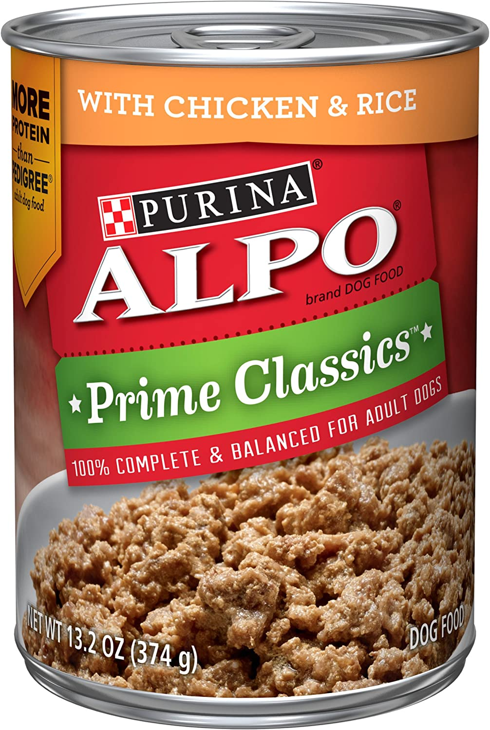 Purina ALPO Wet Dog Food, Prime Classics With Chicken & Rice - (12) 13.2 oz. Cans
